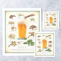 Cooks Illustrated Unframed Print: Beer Ingredients