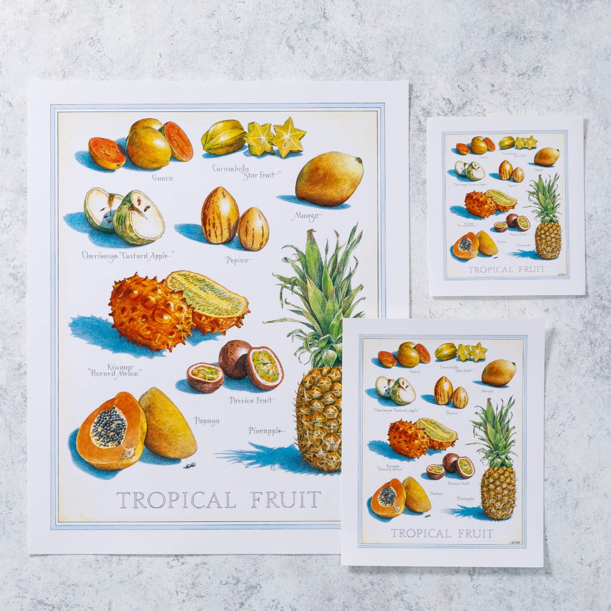 Cook's Illustrated Unframed Print: Tropical Fruit