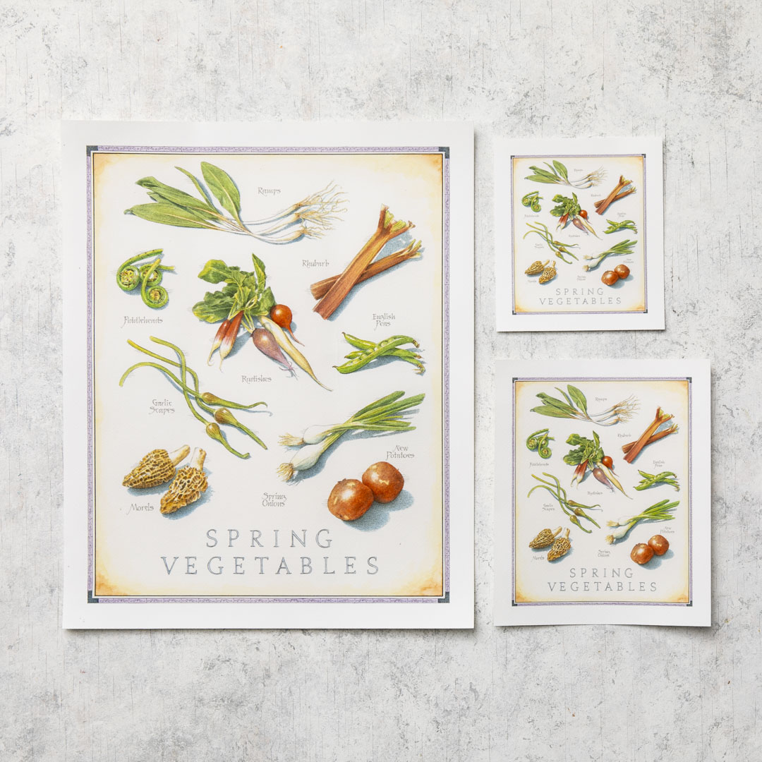 Cooks Illustrated Unframed Print: Spring Vegetables