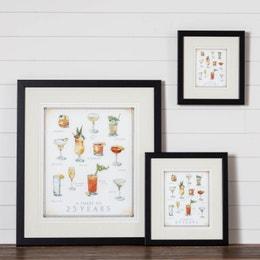 Cook's Illustrated Framed Print: Cocktails