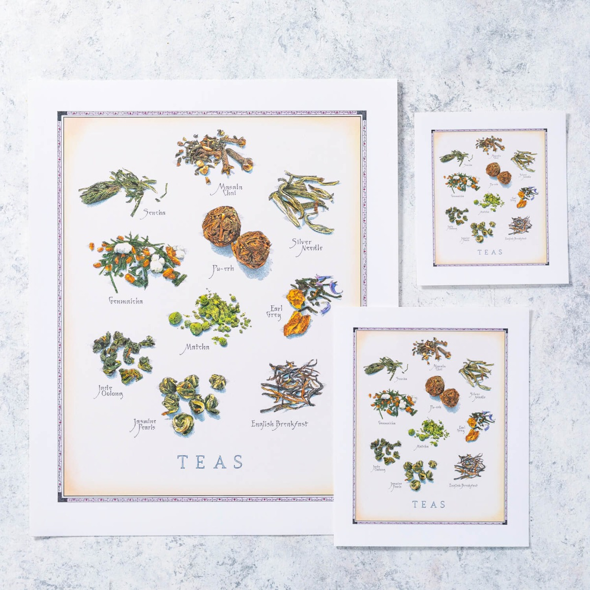 Cook's Illustrated Unframed Print: Teas