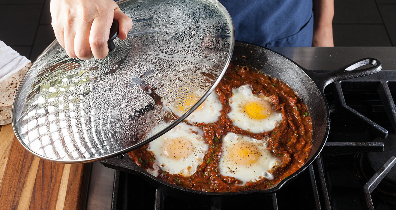 Cast Iron Skillet and Lid Image
